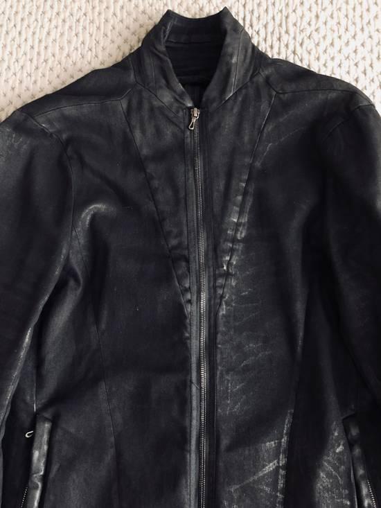 Julius MEN'S BLACK WAXED DENIM JACKET Size US XXL / EU 58 / 5 - 8