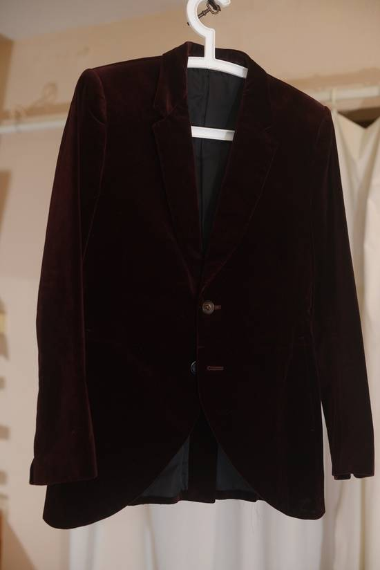 Julius velvet 2 button deep red (bordeaux) jacket Size 36S - 1