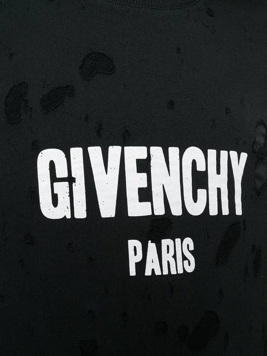 Givenchy $1300 Givenchy Black Destroyed Distressed Logo Rottweiler Shark Sweater size S Size US S / EU 44-46 / 1 - 4