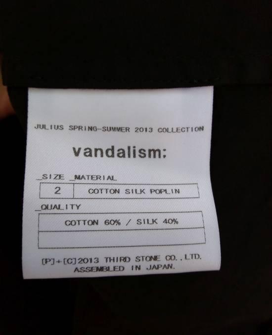 Julius Black Poplin Vest ss13 Size US M / EU 48-50 / 2 - 4