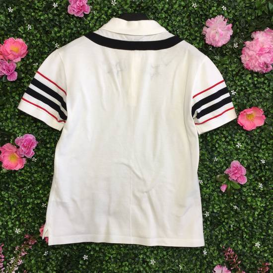 Givenchy Star Striped White Polo Size US M / EU 48-50 / 2 - 1