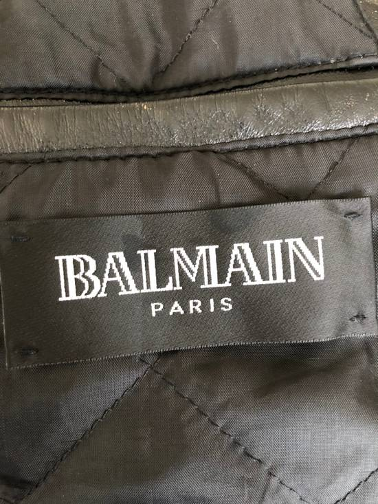 Balmain Black Horse Leather Double Rider Jacket Size US L / EU 52-54 / 3 - 11