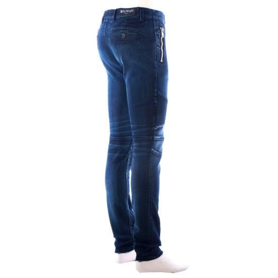 Balmain 995$ New Dark Blue Cotton Blend Biker Jeans Size US 29 - 7