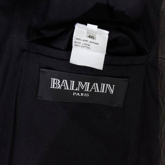 Balmain BALMAIN classic black pebble leather sleeveless biker jacket S FR46 US36 UK36 Size US S / EU 44-46 / 1 - 11