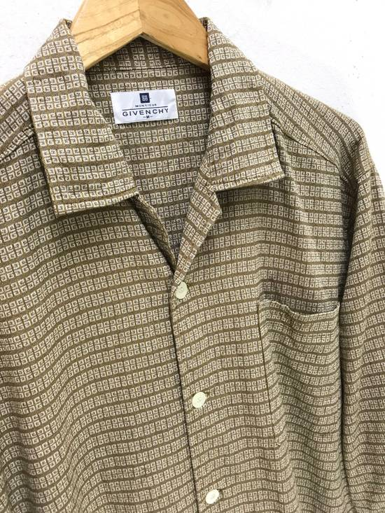 Givenchy Monsieur Givenchy Classic Logos All Over Striped Button Shirt Made in Japan Size US M / EU 48-50 / 2