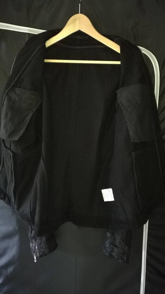 Julius 2009AW Coated Distress Denim Biker Jacket Size US L / EU 52-54 / 3 - 4