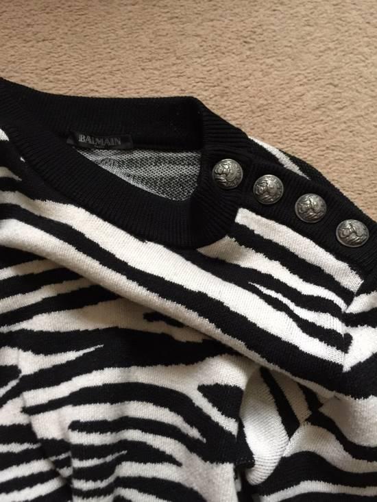 Balmain Balmain Zebra Strips Wool Sweater Size US S / EU 44-46 / 1 - 2