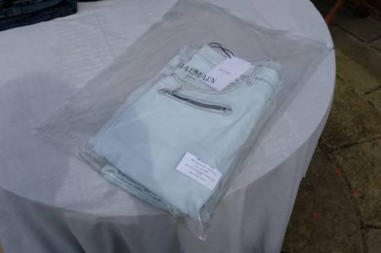 Balmain Light Blue Biker Jeans Size US 34 / EU 50 - 11