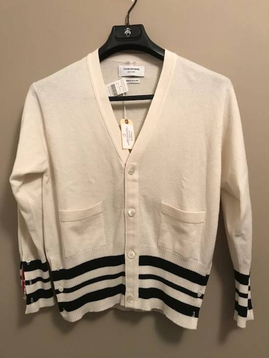 Thom Browne Cricket-Striped Cashmere Cardigan NEW Size US XL / EU 56 / 4 - 1