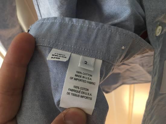 Thom Browne Light Blue Oxford Shirt w/Signature Grosgrain Placket Size US M / EU 48-50 / 2 - 3