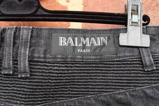 Balmain Black Distressed Biker Jeans Size US 29 - 6
