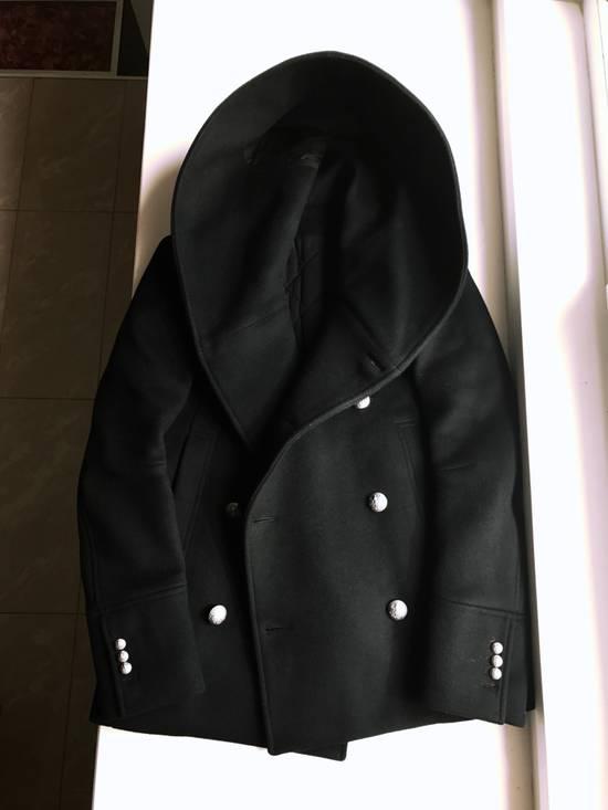 Balmain Balmain Black Wool Hooded Peacoat Size US L / EU 52-54 / 3 - 2