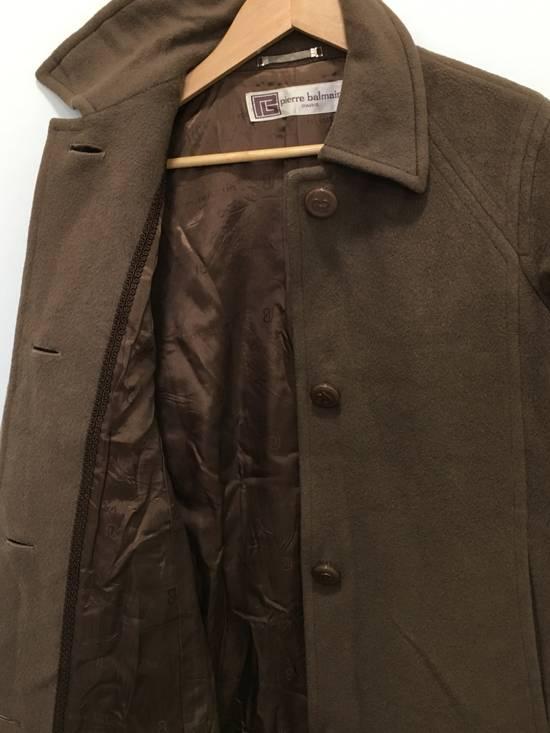 Balmain Vintage Pierre Balmain Paris Wool Long Coat Jacket Camel Brown Size US S / EU 44-46 / 1 - 12