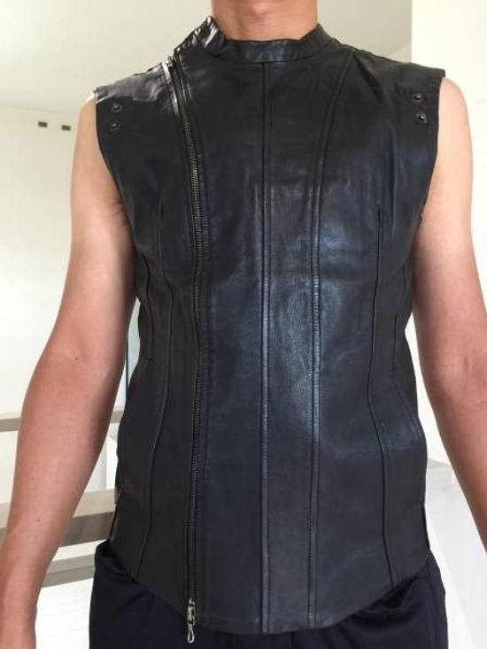 Julius LEATHER BIKER VEST Size US S / EU 44-46 / 1 - 11