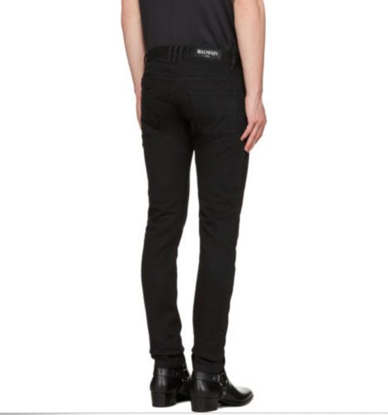 Balmain Balmain Black Biker Jeans Size US 32 / EU 48 - 4