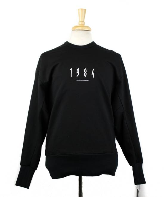 Julius 7 Men's Black Cotton '1984' Crewneck Sweater Size 1/XS Size US XS / EU 42 / 0