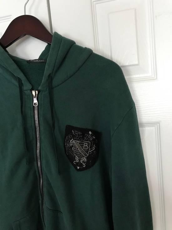 Balmain Embroidered Crest Side Zip Hoodie Size US L / EU 52-54 / 3 - 1