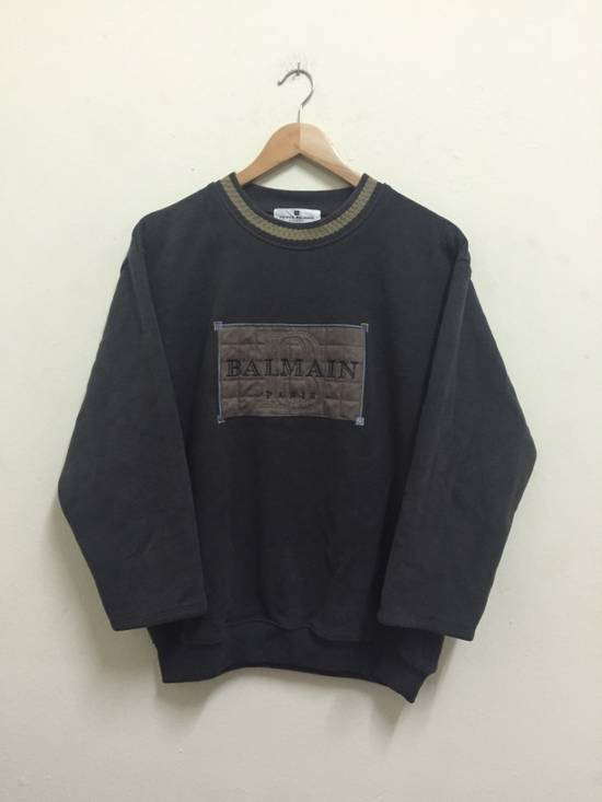 Balmain Vintage 90s BALMAIN PARIS by Pierre Balmain Embroidery big logo 3 Quarters crewneck jumper sweatshirts Size US M / EU 48-50 / 2
