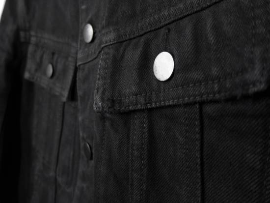 Balmain SS13 Black Wax Coated Denim Jacket sz. XS Size US XS / EU 42 / 0 - 2