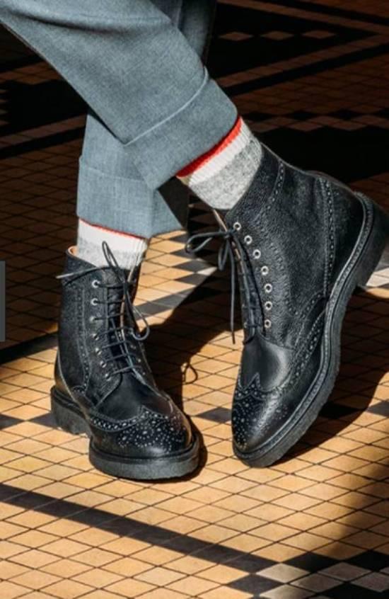 Thom Browne Black Classic Wingtip Boots Size US 8.5 / EU 41-42 - 6
