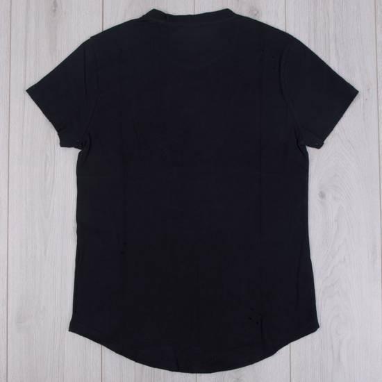 Balmain SS18 Black Cotton Balmain Velvet Logo Print Tshirt Size US S / EU 44-46 / 1 - 1