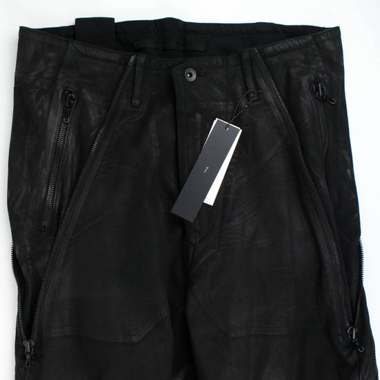 Julius 7 Black 'Coated Denim Stretch Zip Pocket' Baggy Jeans Pants 3/M Size US 34 / EU 50 - 1