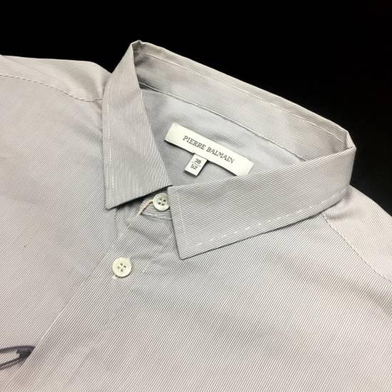 Balmain Fine Stripe Button Down Shirt NWT Size US L / EU 52-54 / 3 - 1