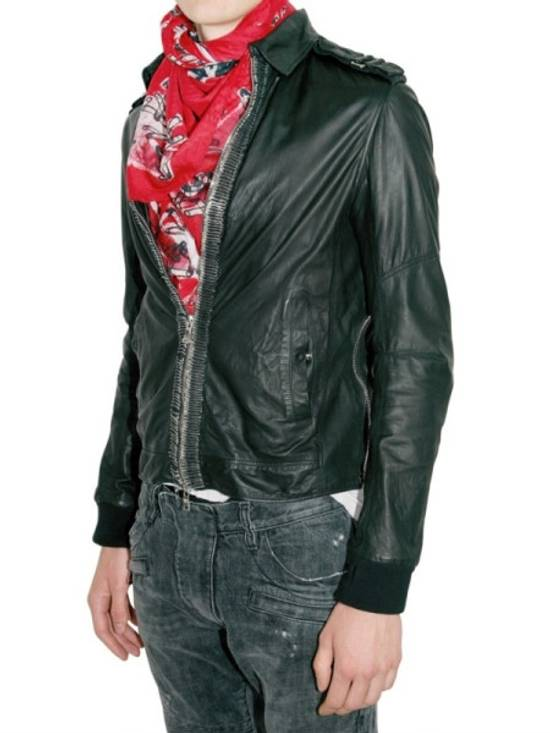 Balmain Safety Pin Leather Biker Jacke Size US M / EU 48-50 / 2 - 1