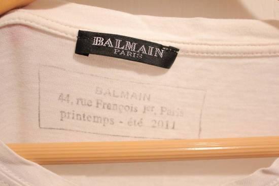 Balmain Decarnin 2011 White T Shirt Made in France Size US M / EU 48-50 / 2 - 3