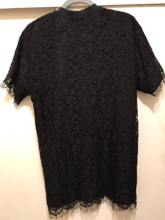 Givenchy Black Lace Overlay Tee Size US M / EU 48-50 / 2 - 4