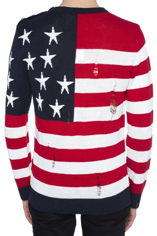 Balmain Brand New Balmain American Flag Raw Trimmed Sweater Size US M / EU 48-50 / 2 - 2