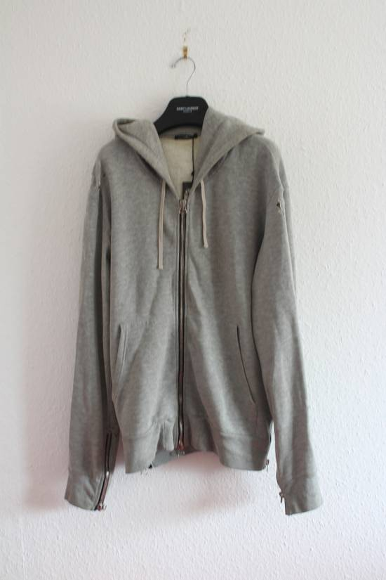 Balmain FW10 Decarnin Era Grey Mothhole Destroyed Hoodie Size US XL / EU 56 / 4