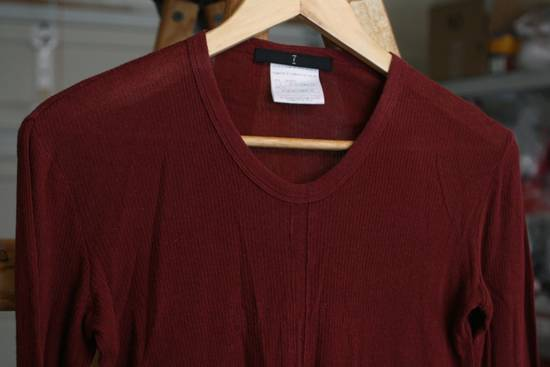 Julius FW08 Blood Red Cotton/Cashmere Rib Longsleeve Size US S / EU 44-46 / 1 - 2