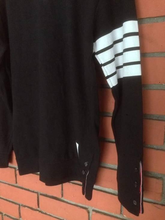 Thom Browne Nice Item !! Black Thom Browne With Stripe Sweatshirt Size US M / EU 48-50 / 2 - 2