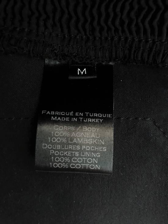 Balmain LAST DROP! Size M Fits S - Slim Fit Leather Ribbed Biker Style Sweatpants - $3100 Retail Size US 30 / EU 46 - 12
