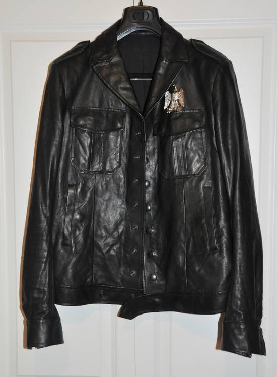 Balmain Black leather jacket Decarnin Size US M / EU 48-50 / 2 - 3
