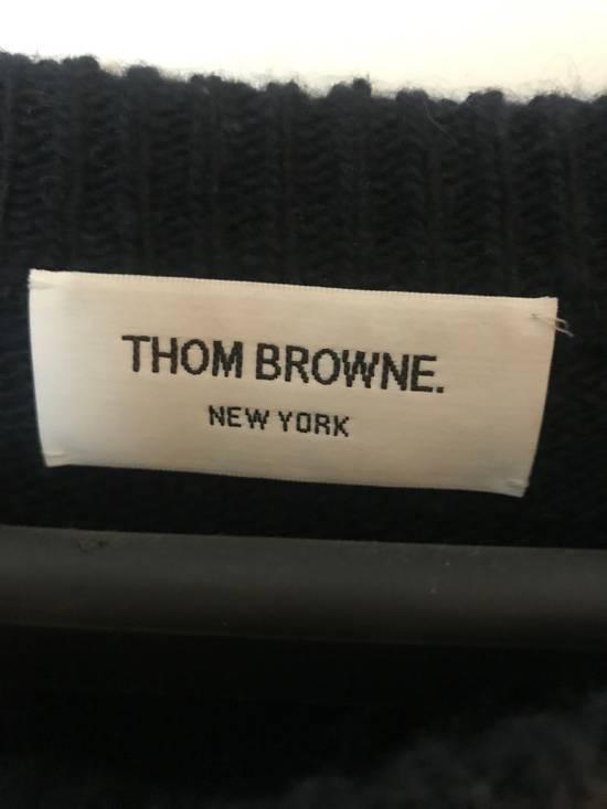 Thom Browne Navy Three Stripe Knit Size US XL / EU 56 / 4 - 1