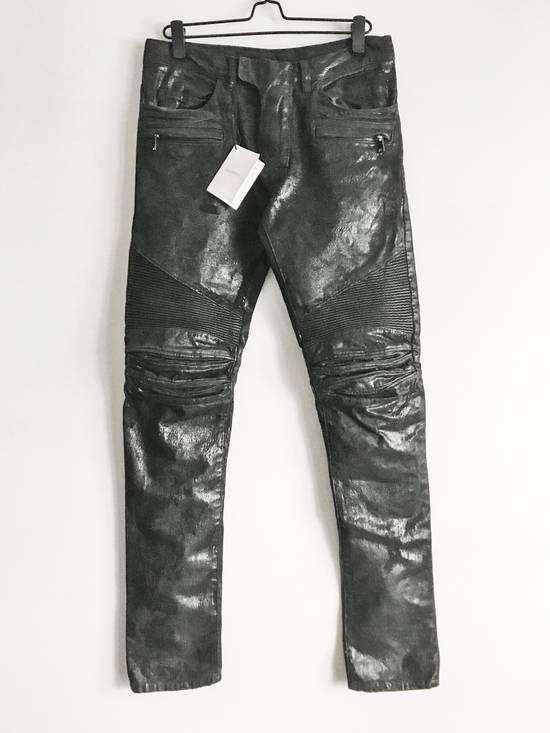 Balmain Brand New Biker Coated Jeans Size US 30 / EU 46