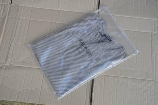 Balmain Distressed Striped T-shirt Size US M / EU 48-50 / 2 - 7