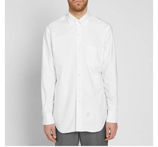 Thom Browne Slim-Fit Button Down Collar Cotton Oxford Shirt (white) Size US XXL / EU 58 / 5