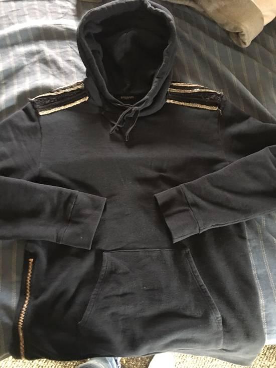 Balmain Navy Pullover Dual Zippers/Shoulder Patches Size US L / EU 52-54 / 3
