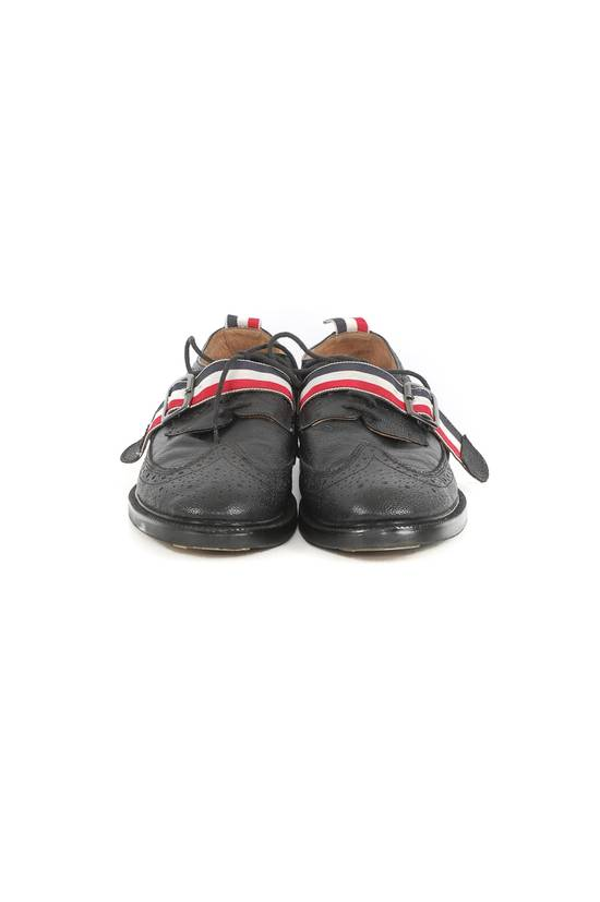 Thom Browne Thom Browne Black Leather Monk Strap Wingtip Shoes Size US 10 / EU 43 - 1