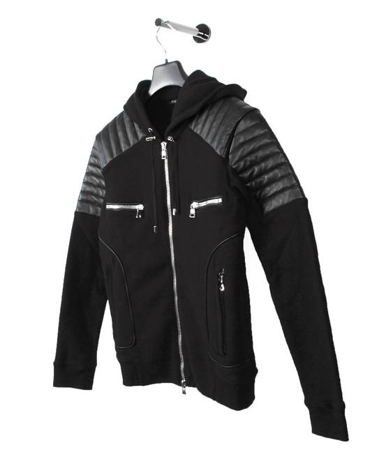 Balmain Original Balmain Leather App Black Men Hooded Sweatshirt Top Jumper in size M Size US M / EU 48-50 / 2 - 1