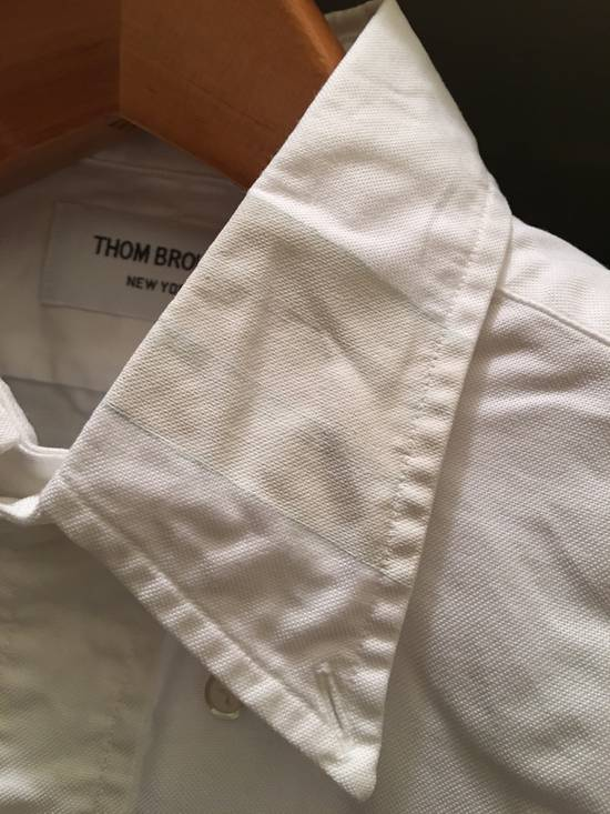 Thom Browne White Oxford with Painted collar detail - 2 Size US M / EU 48-50 / 2