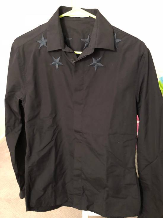 Givenchy Givenchy Black Embroidered Stars Shirt Size US L / EU 52-54 / 3