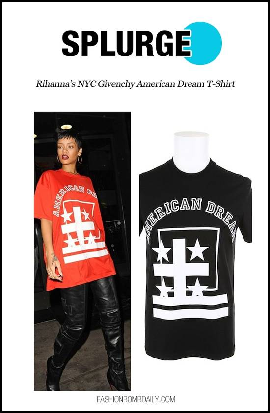Givenchy GIVENCHY American Dream Screen Print Cut & Sew Black Tee Fits M - L Size US M / EU 48-50 / 2 - 2