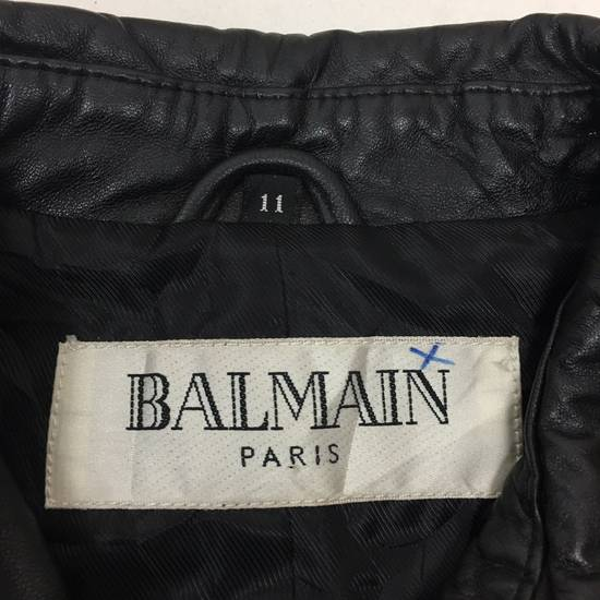 Balmain Mens BALMAIN Paris Leather PVC Jacket Coat Luxury Designer Size US M / EU 48-50 / 2 - 2