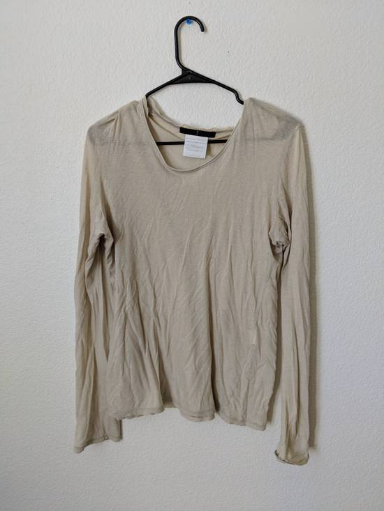 Julius Beige Sheer Long Sleeve Shirt Size US M / EU 48-50 / 2