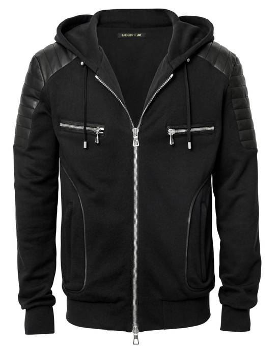 Balmain Balmain X H&M hoodie with leather Size US M / EU 48-50 / 2
