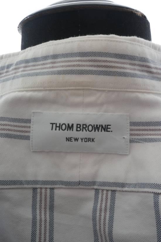 Thom Browne Thom Browne Brown Striped Shirt Size US XS / EU 42 / 0 - 4